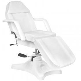 Kozmetická stolička s operadlom BIELA