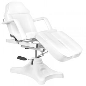 Kozmetická taburetka biela s operadlo tvarovaná